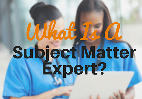 what is a sme - subject matter expert